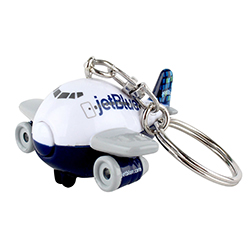 JETBLUE KEYCHAIN WITH LIGHT AND SOUND