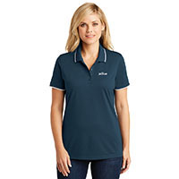LADIES UV MICRO MESH TIPPED POLO
