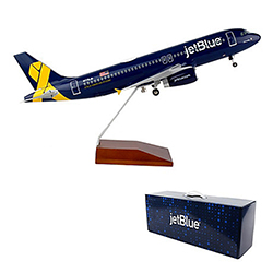JETBLUE A320 1:100 SCALE VETS IN BLUE LIVERY MODEL